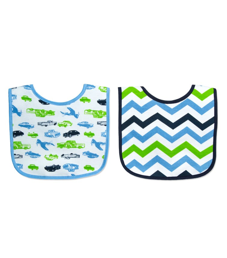 MOTHER'S CHOICE Baby 2 Pack Bibs With Hook