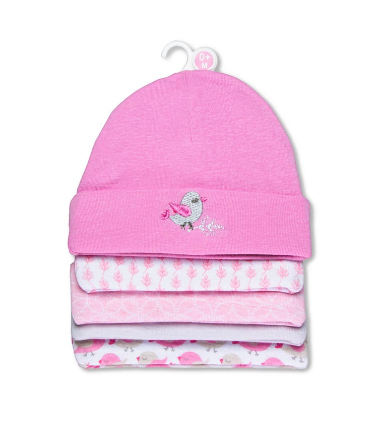 MOTHER'S CHOICE Baby 5 Pack Hat Set