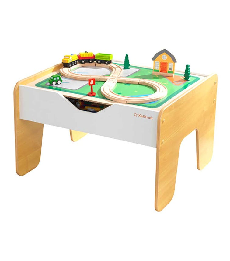 KIDKRAFT 2 In 1 Activity Table With Board Grey & Natural