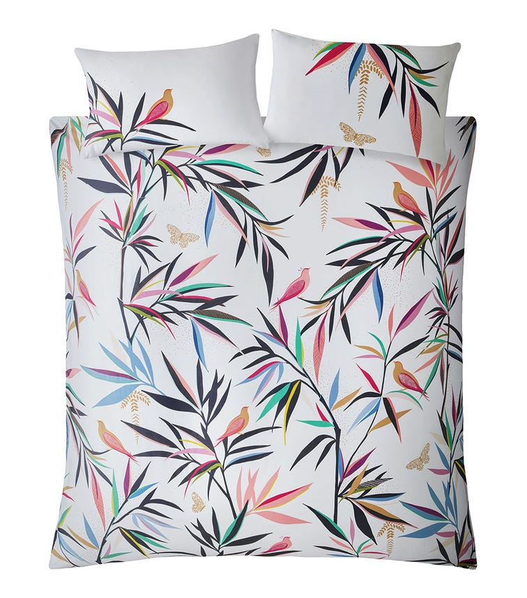 SARA MILLER Bamboo Print Super King Quilt Set (260x220cm)