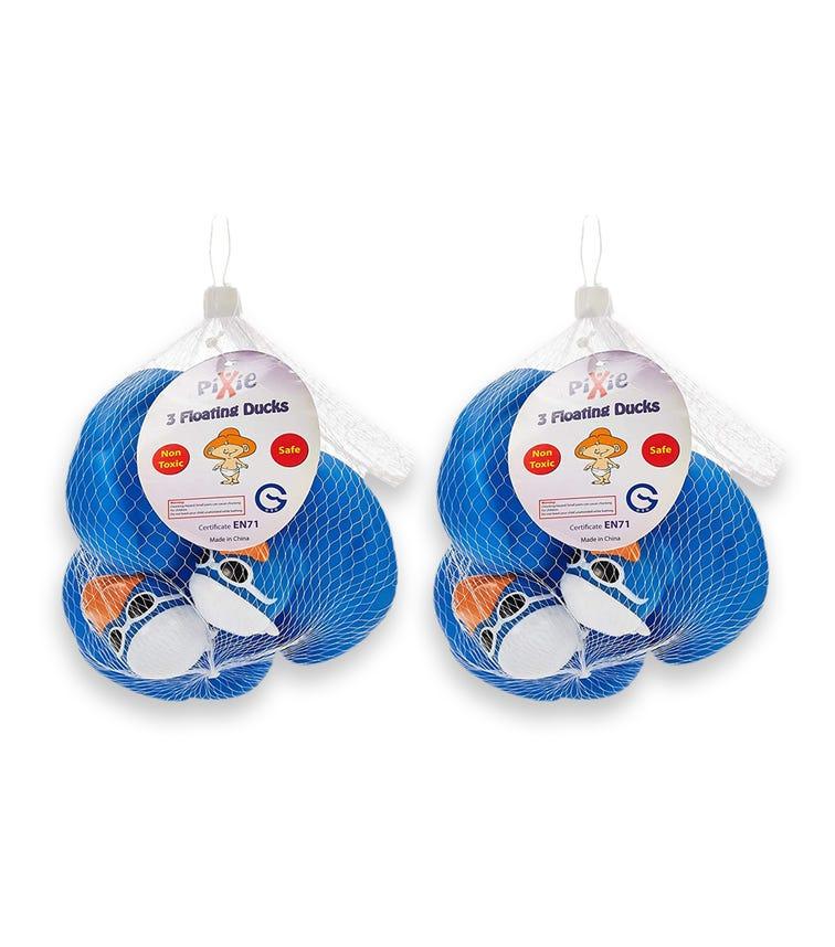 PIXIE Floating Ducks Blue (Pack Of 2)