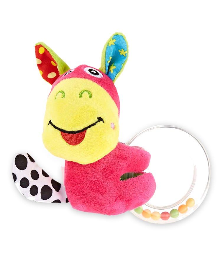 PIXIE Rattle Baby Toy Donkey Round