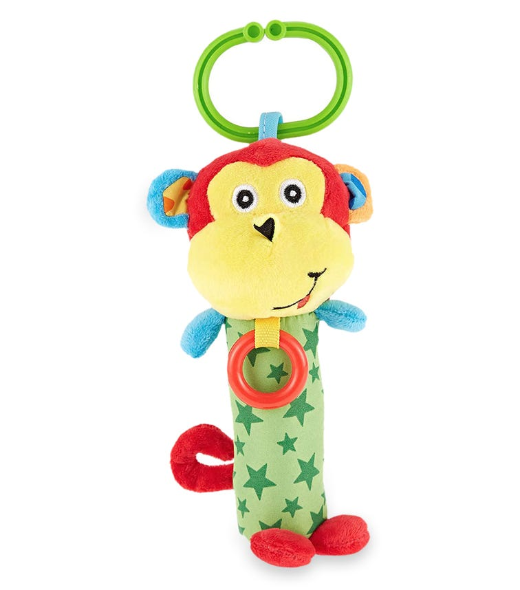 PIXIE Rattle Baby Toy Monkey