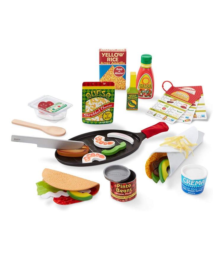 MELISSA&DOUG Fill & Fold Taco & Tortilla Set