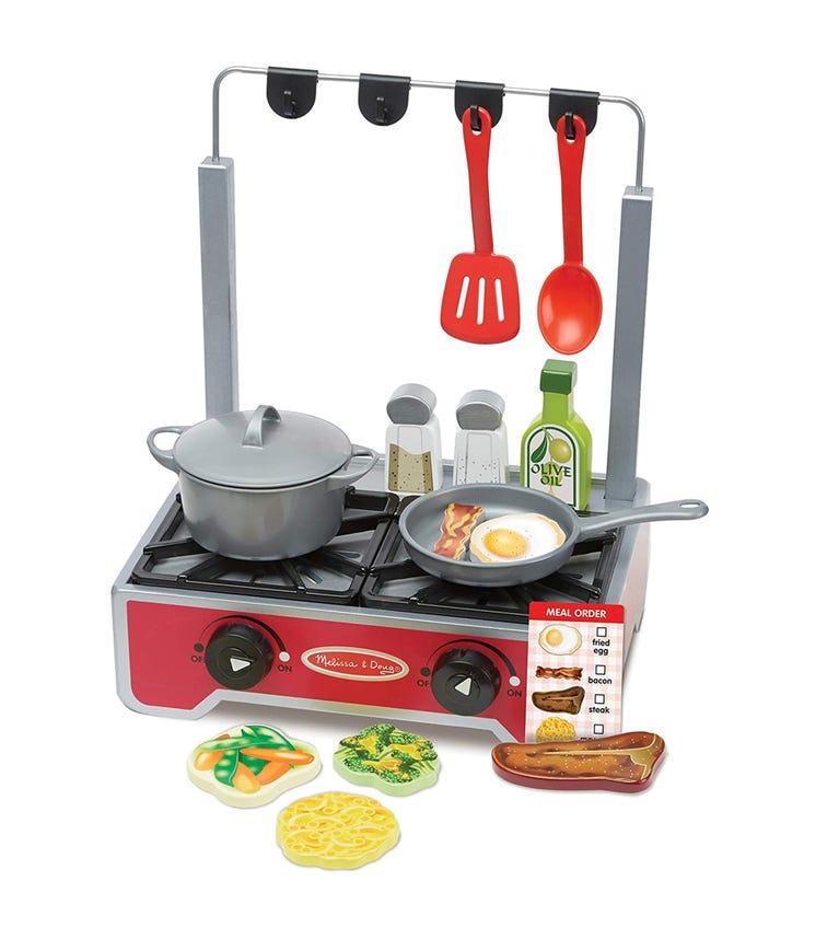 MELISSA&DOUG Deluxe Wooden Cooktop Set