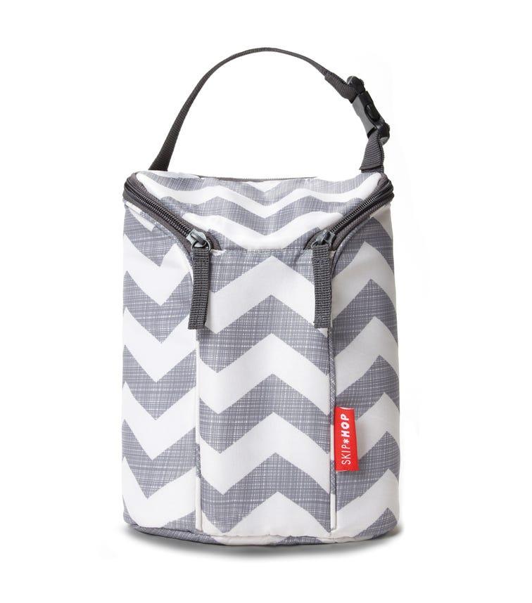 SKIP HOP Grab & Go Double Bottle Bag Chevron