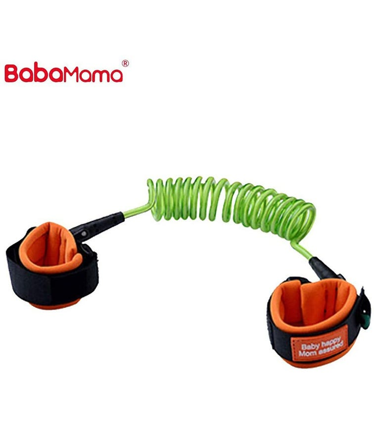 BABAMAMA Kids Anti Lost Wrist Link Walking Belt 8891 - Green