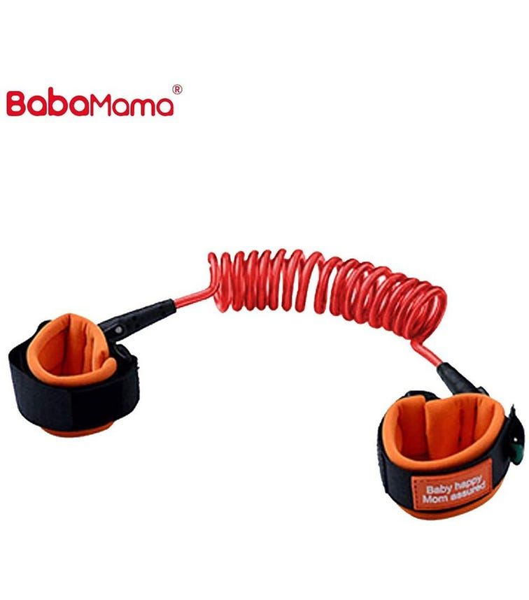 BABAMAMA Kids Anti Lost Wrist Link Walking Belt 8891 - Rose