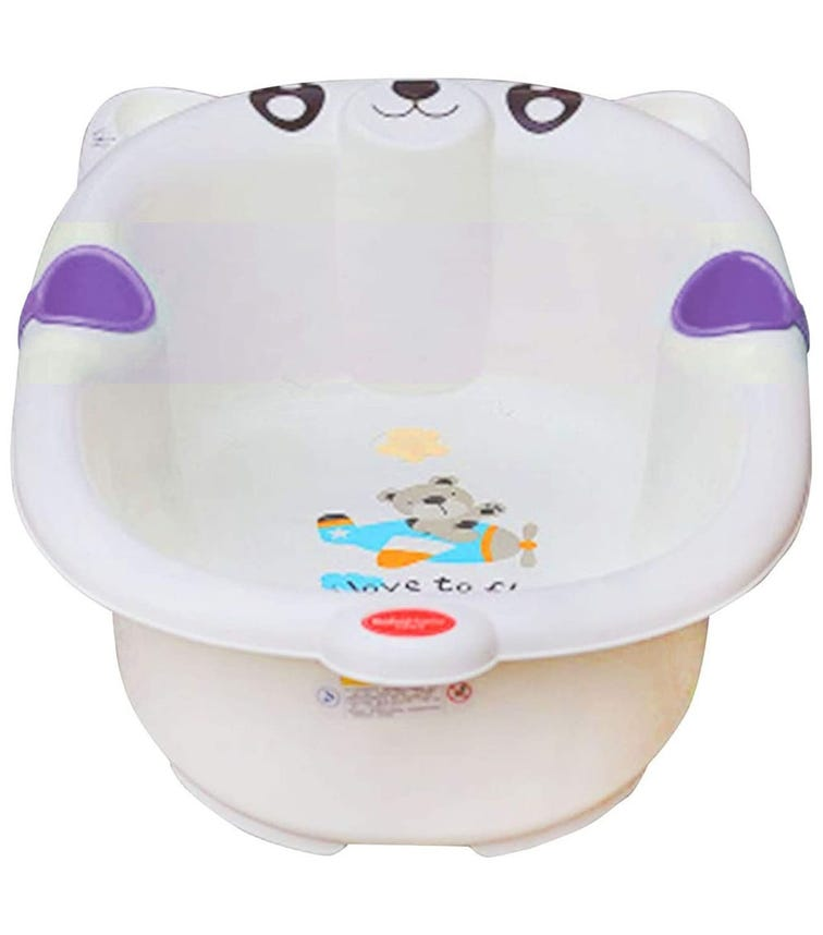LUVLAP Bear Baby Bathing Tub Portable(16)-Purple