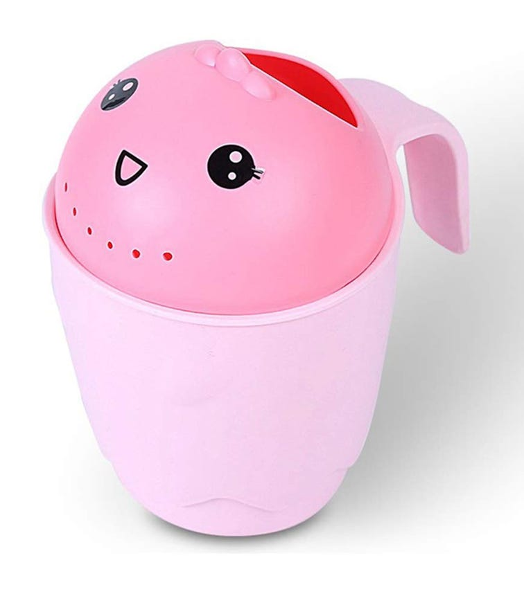 PIXIE Plastic Kids Wash Hair Water Rinse Cup 8881 - Pink