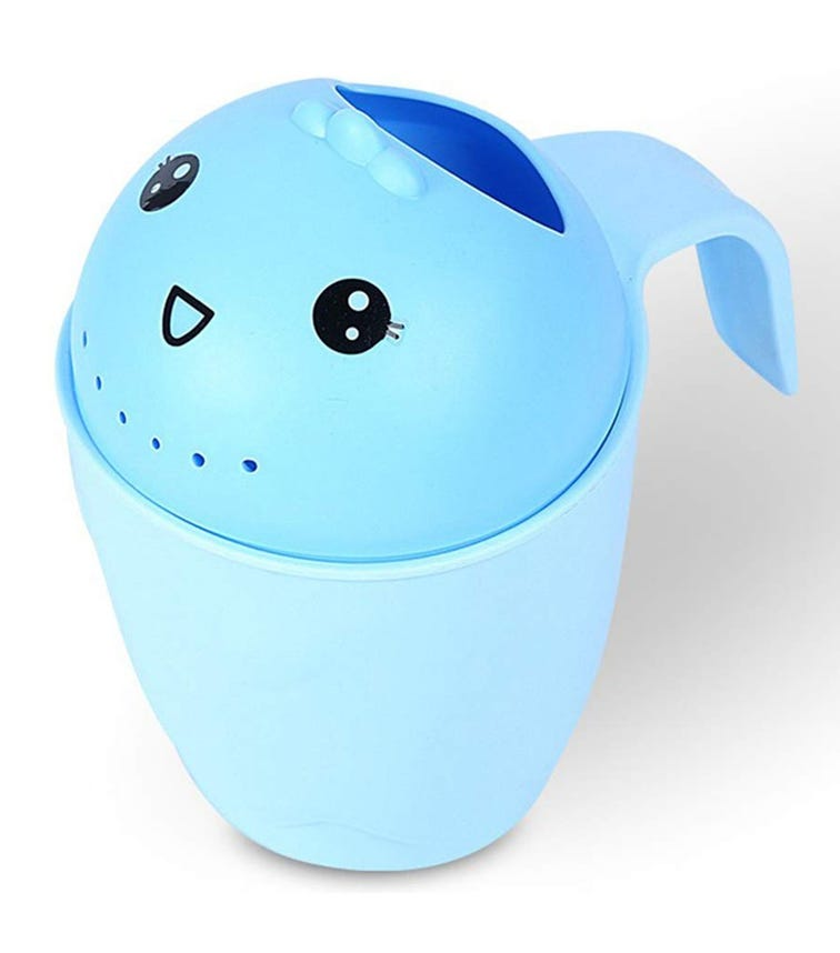 PIXIE Plastic Kids Wash Hair Water Rinse Cup 8881 - Blue