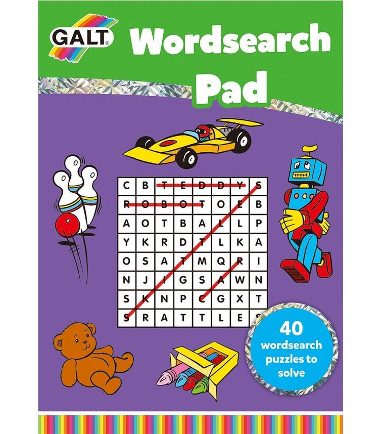GALT Word-Search Pad Kids Activity Book