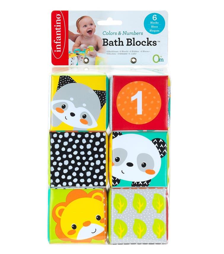 INFANTINO Colors Numbers Bath Blocks