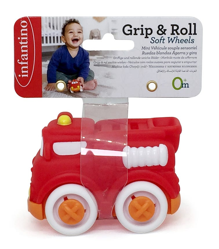 INFANTINO Grip Roll Soft Wheels Header With Elastic Band
