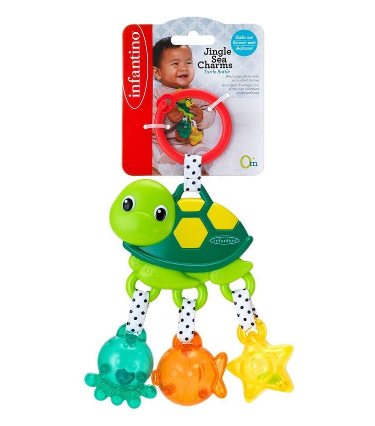 INFANTINO Jingle Sea Charms Turtle Green