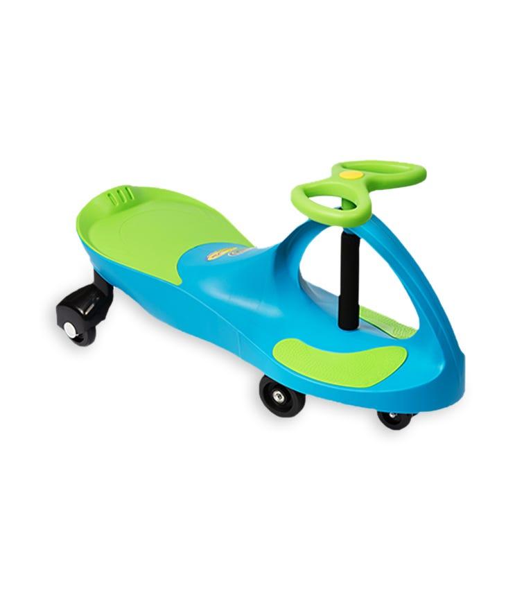 PLASMACAR Ride On Toy - Aqua Blue/Lime
