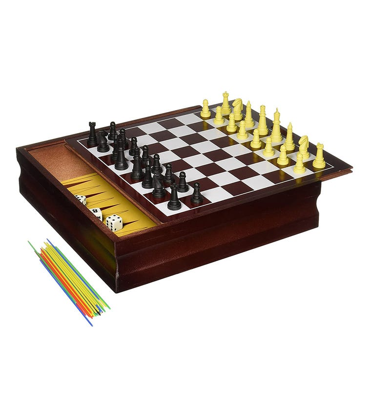 SPIN MASTER Game Family 10 Game Set - Wood