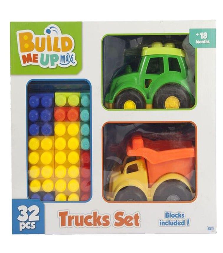 HAPPY LINE Block Maxi 31 Pieces, 2 Trucks