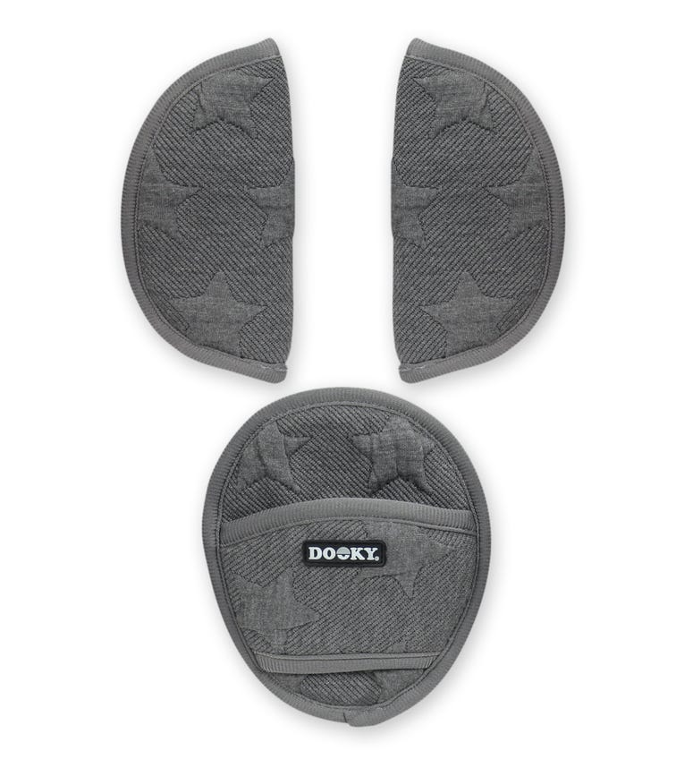 DOOKY Universal Pads - Knitted Star Grey