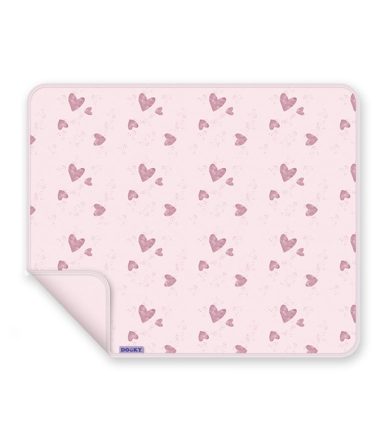 DOOKY Single Layer Blanket Single Layer - Pink Heart