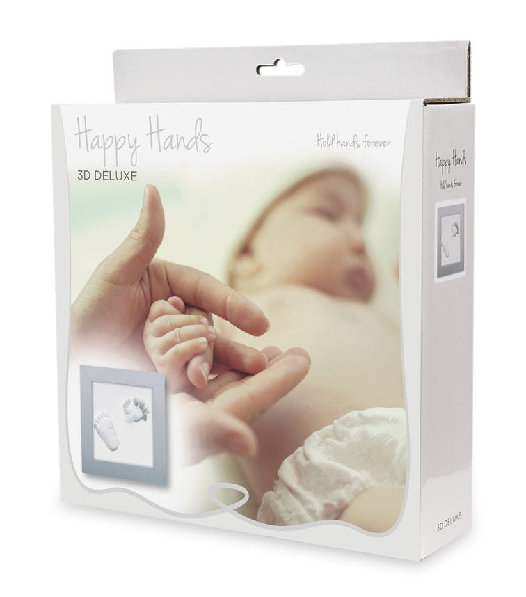 HAPPY HANDS 3D Deluxe Silver Frame (23X23cm)