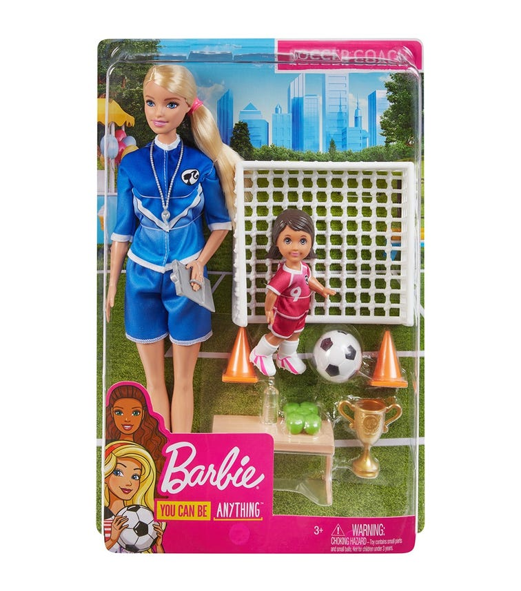 BARBIE Soccer With Dolls Playset Assorted