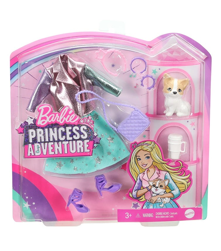 BARBIE Modern Princess Pet Fashion Pack Asst