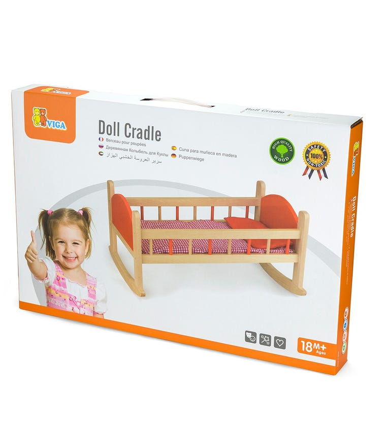 TIGER TRIBE Wooden Doll Cradle