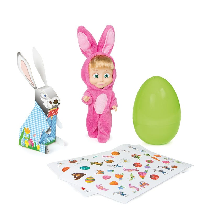 MASHA & THE BEAR In Rabbit Costume Including Egg