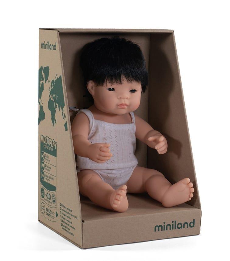 MINILAND Baby Doll Asian Boy  38Cm