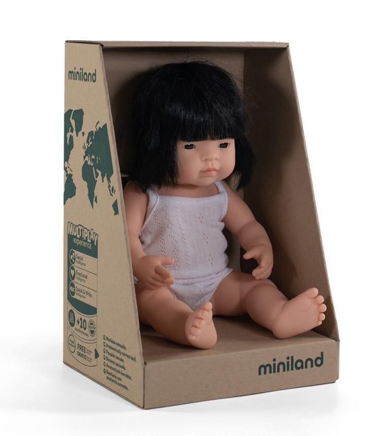 MINILAND Baby Doll Asian Girl 38Cm