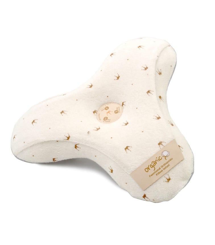 AL PREMIO 3D Baby Pillow Natural Organic Cotton Crown Patter