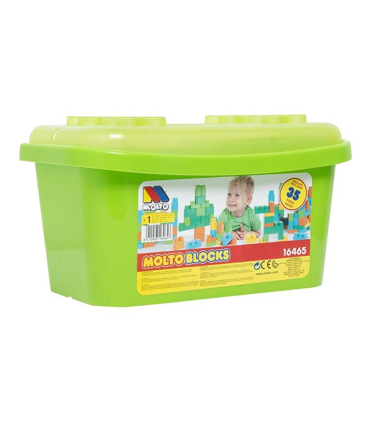 MOLTO Blocks Box 35 Pieces Green
