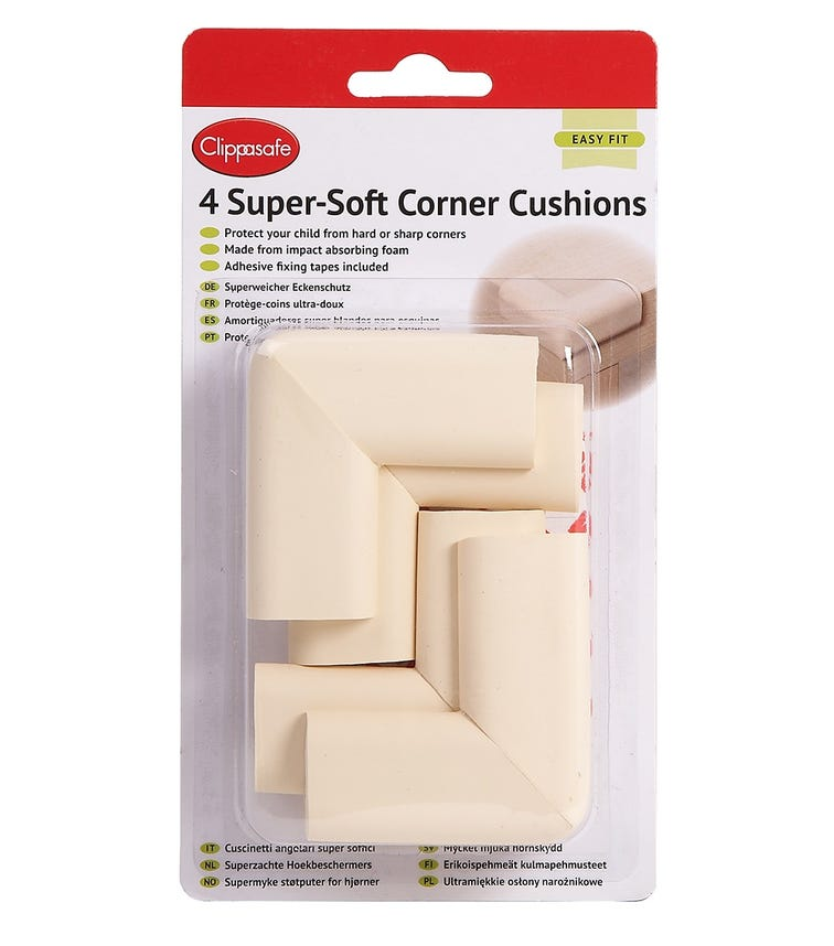 CLIPPASAFE Super-Soft Corner Cushions (4 Pack)