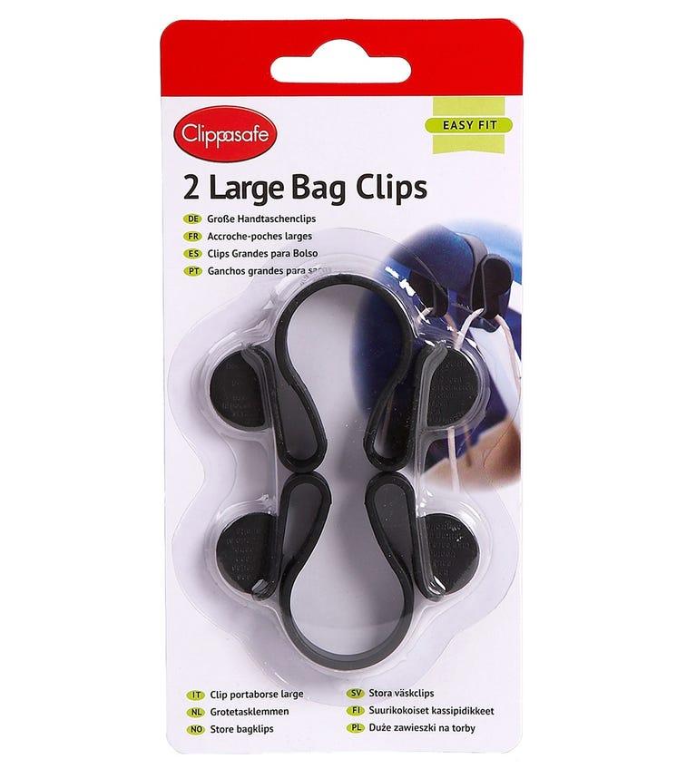CLIPPASAFE Bag Clips - Large Size (2 Pack)