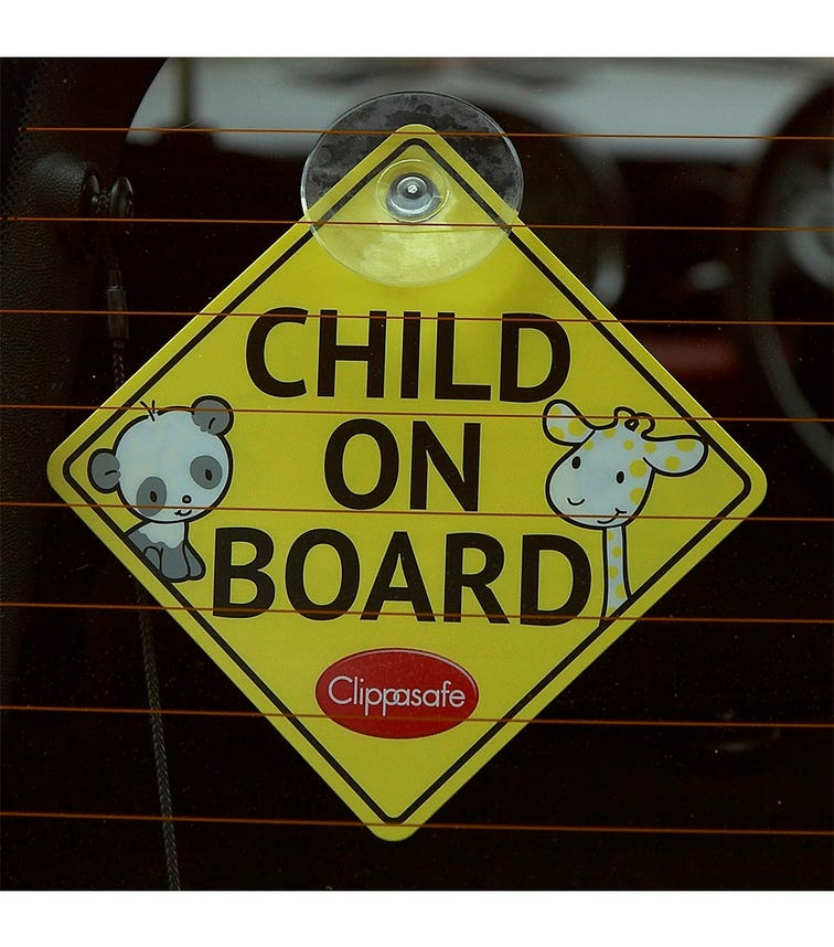 CLIPPASAFE Baby On Board/Child On Board Sign