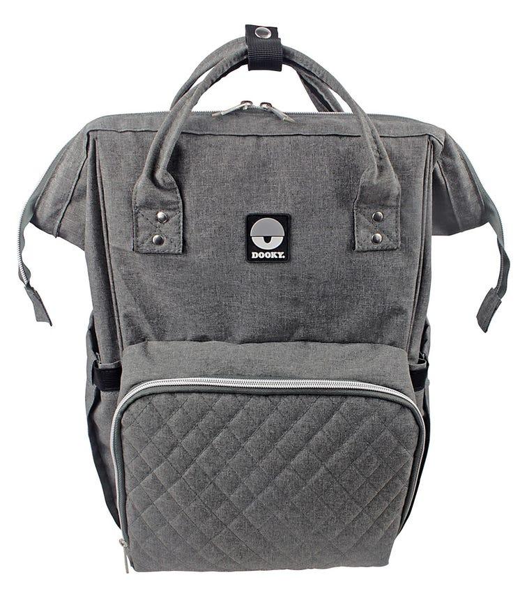 DOOKY Diaper Backpack Large - Grey Melange