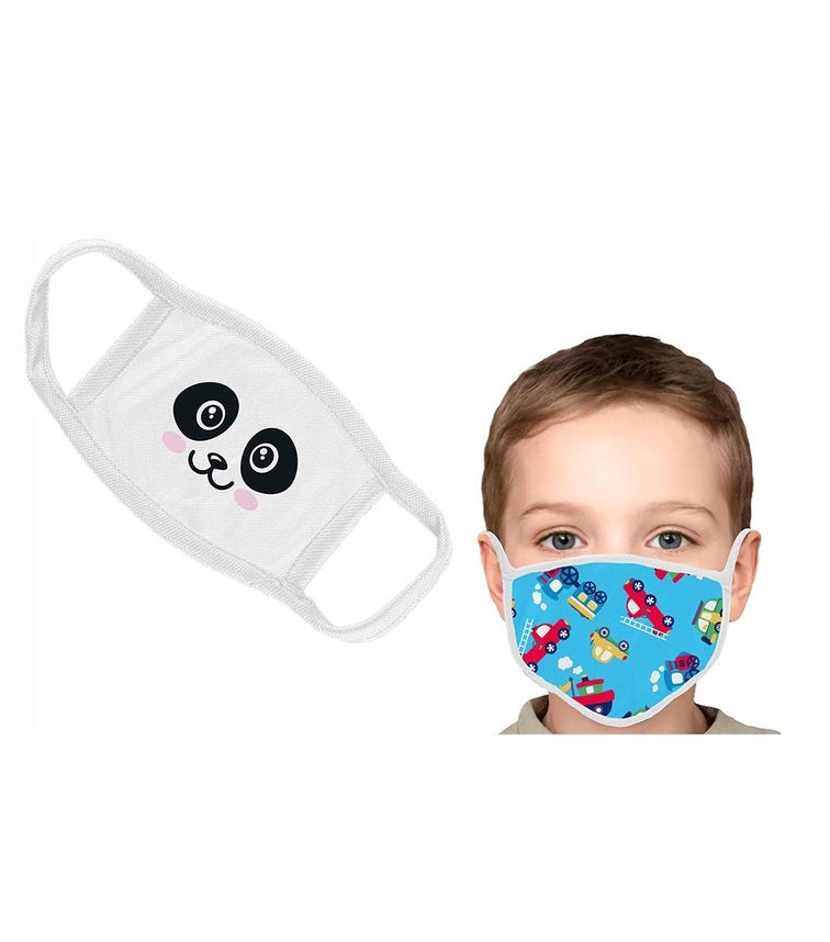 SWAYAM Reusable Cloth Face Mask For Kids, 3-7 Years (Pack Of 2)