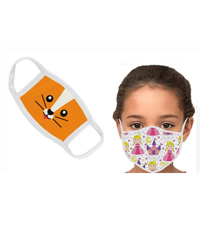 SWAYAM Reusable Cloth Face Mask For Kids, 1-3 Years (Pack Of 2)