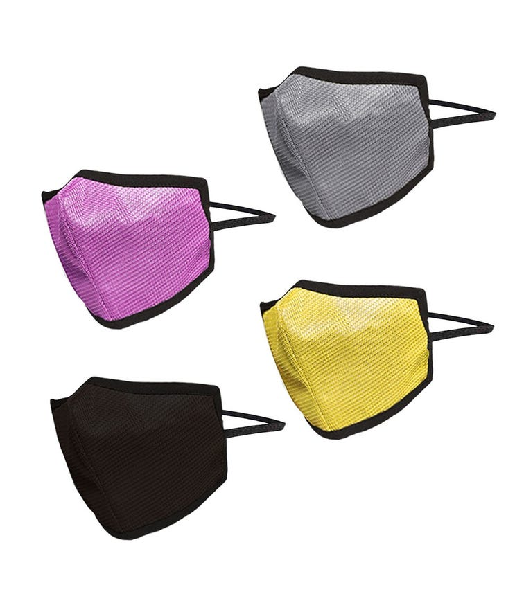 SWAYAM Reusable 4-Layer Outdoor Protective Face Mask - Pack Of 4 (Pink/Brown/Yellow/Gray)