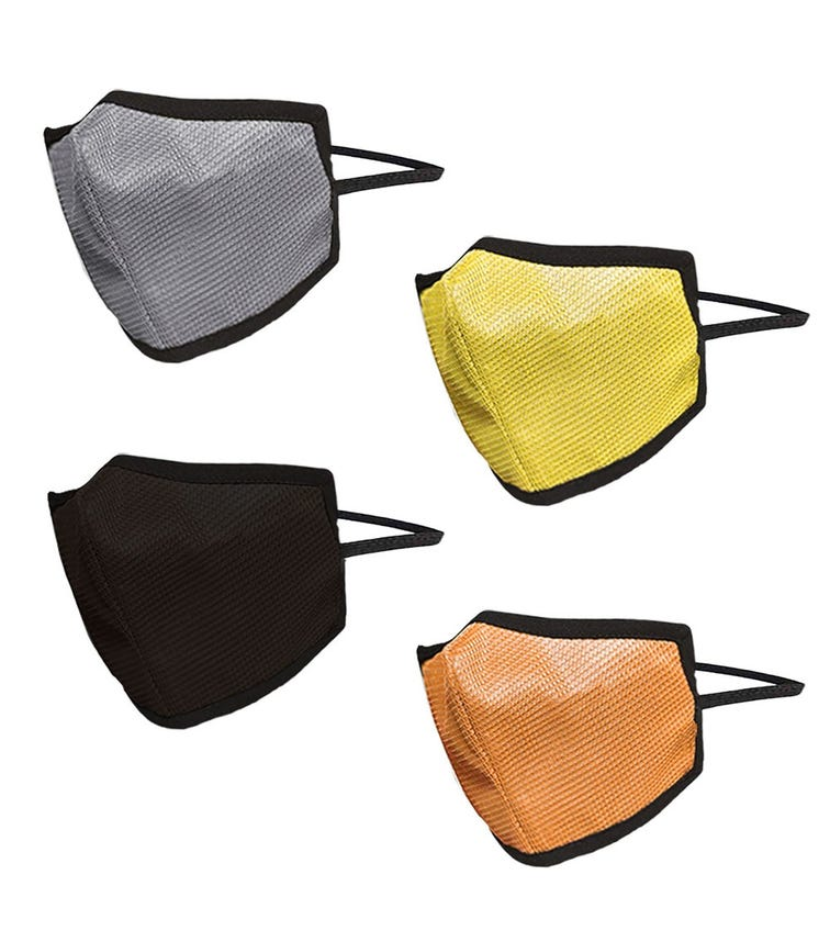 SWAYAM Reusable 4-Layer Outdoor Protective Face Mask - Pack Of 4 (Orange/Brown/Yellow/Gray)