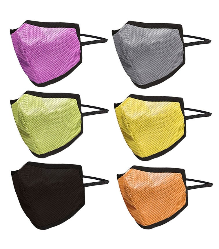 SWAYAM Reusable 4-Layer Outdoor Protective Face Mask - Pack Of 6 (Assorted Color)