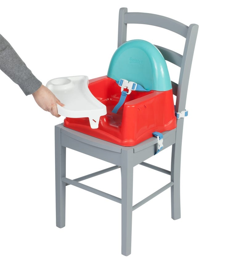 SAFETY 1st Easy Care Feeding Booster Seat Red Lines