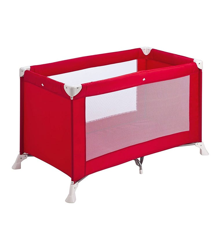 SAFETY 1st Soft Dreams Travel Cot Red Lines