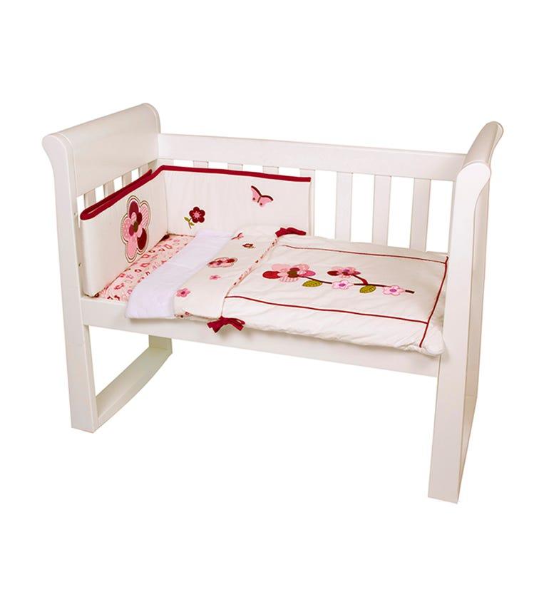 BABYHOOD Amani Bebe Raspberry Garden 3 Piece Cradle Quilt Set