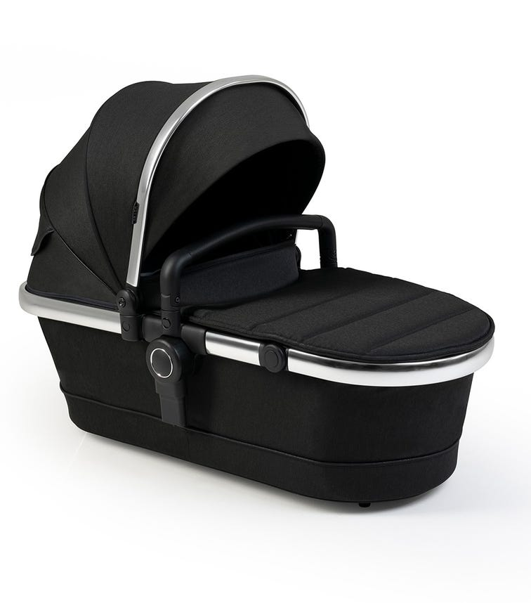 iCANDY Peach Black Twill 2nd Carry Cot Fabric And Bumper Bar