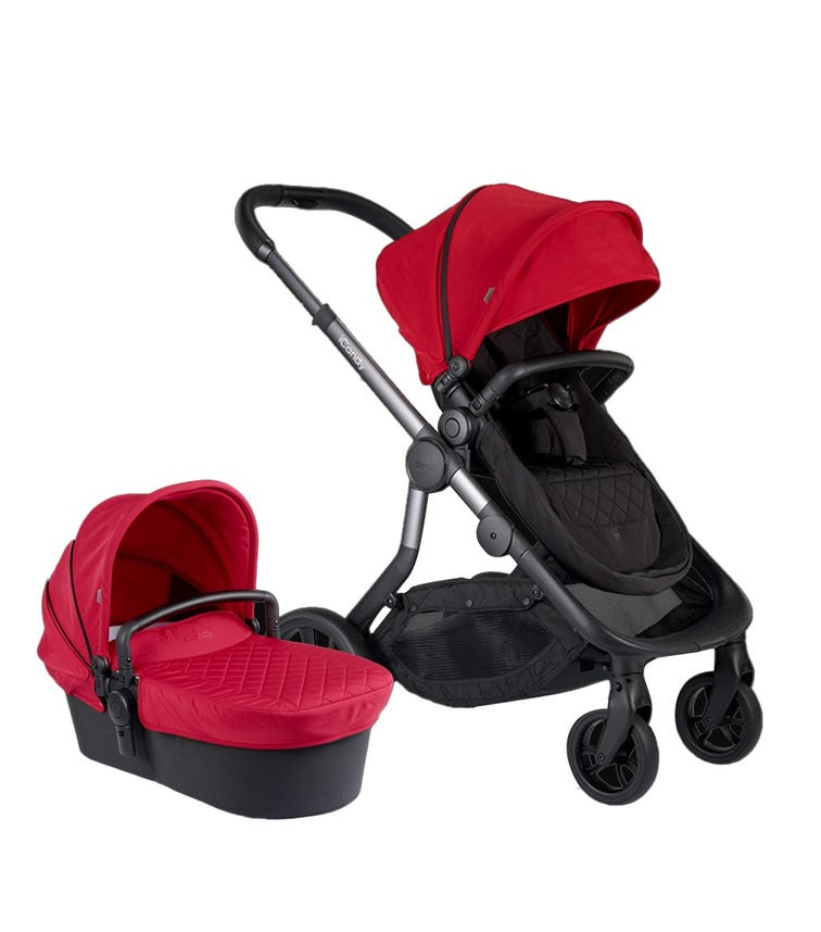 iCANDY Orange Combo Magma - Seat & Carry Cot + Car Seat Adaptor