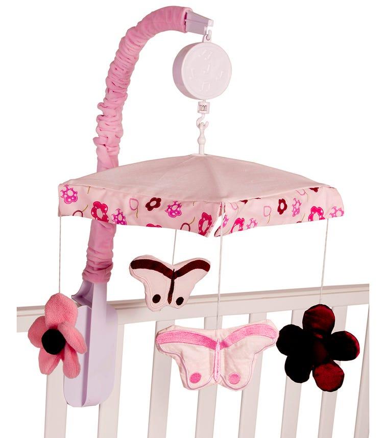 BABYHOOD Amani Bebe Raspberry Garden Cot Mobile