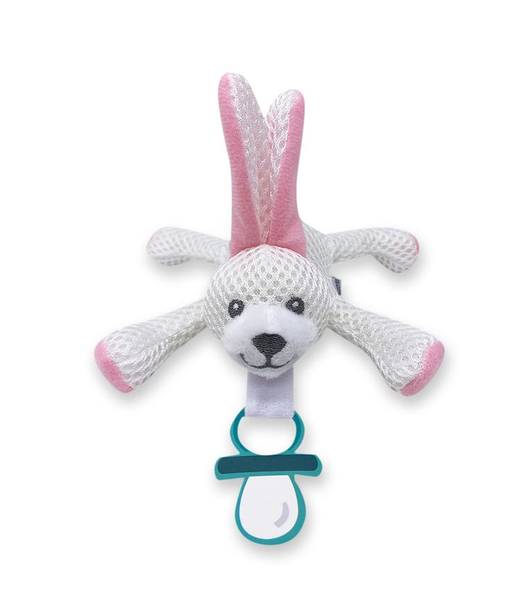 BABY WORKS Bibipals Pink Bunny Breathable Bibi