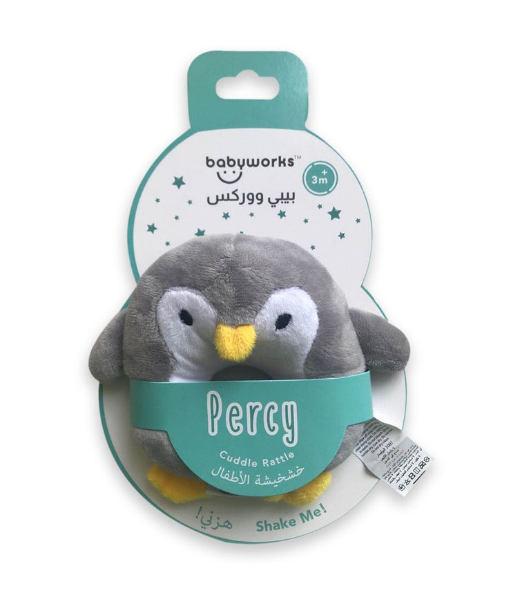 BABY WORKS Bibibaby Cuddle Rattle Percy Penguin